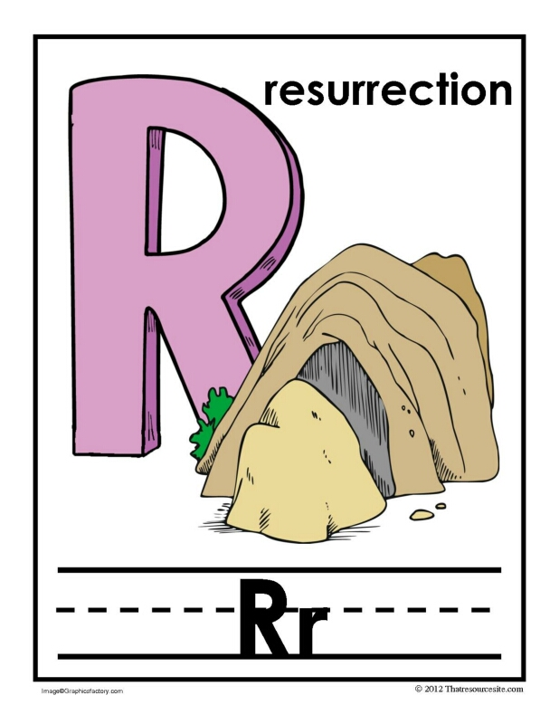R Is for Resurrection Alphabet Handwriting Poster Set