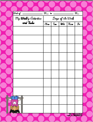 outdoor fun theme weekly activity sheet - Fun Activity Sheets