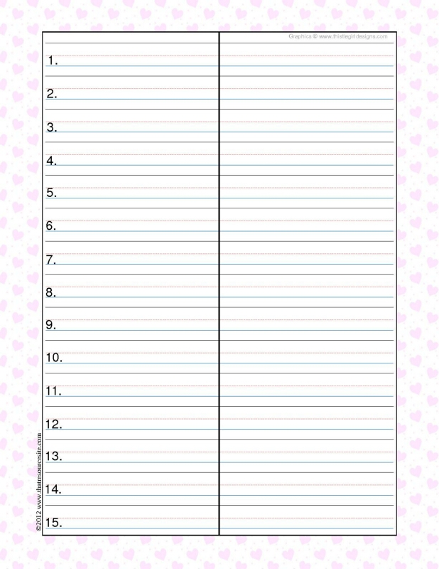 Little Hearts Theme Spelling & Vocab Drill Sheets