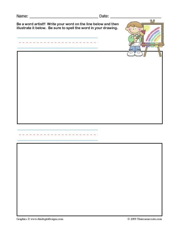 Word Artist Worksheet (2 Words)