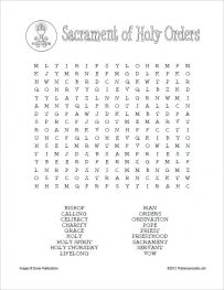 Sacrament of Holy Orders Word Search