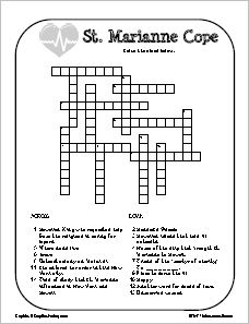 St. Marianne Cope Crossword Puzzle