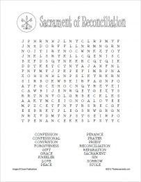 Sacrament of Reconciliation Word Search