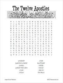Twelve Apostles Word Search