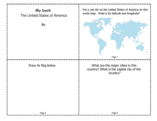 My Book Mini-Book About the United States of America