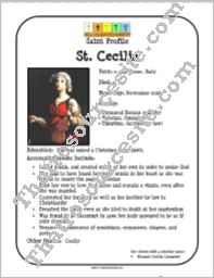 St. Cecilia Saint Profile Sheet