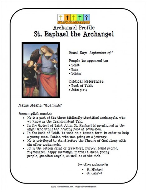 St. Raphael the Archangel Saint Profile