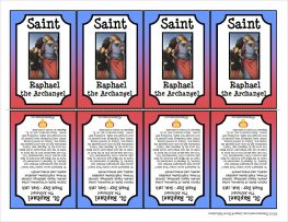 St. Raphael the Archangel Printable Trading Card