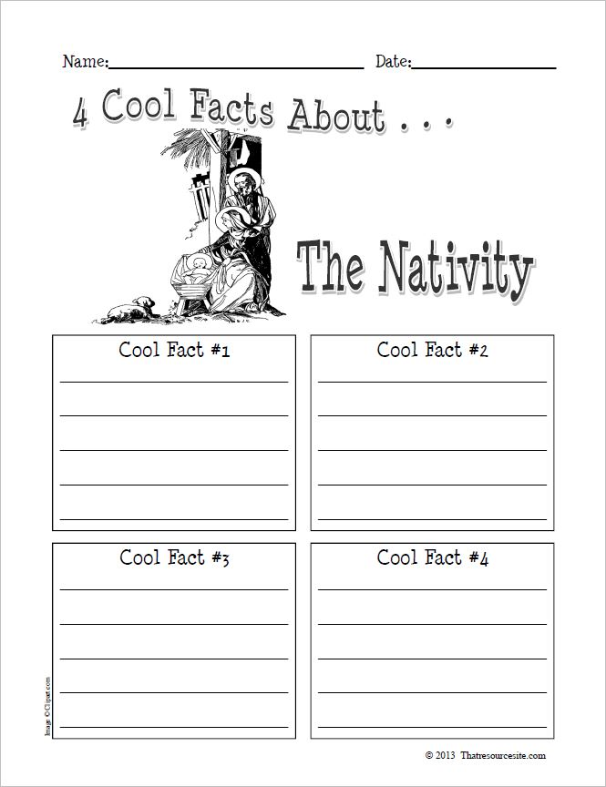 4 Cool Facts About the Nativity Graphic Organizer Worksheet