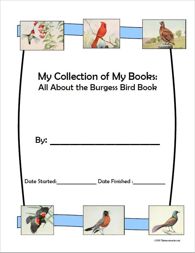 Burgess Bird Book Mini-Book Collection Cover