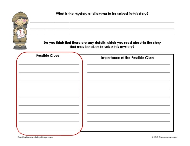 Find the Clues Mystery Genre Worksheet That Resource Site – Mystery Worksheets