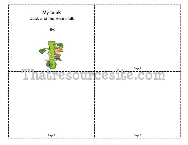 Jack and the Beanstalk Mini-Book