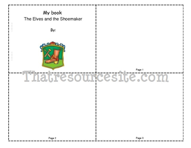 The Elves and the Shoemaker Mini-Book