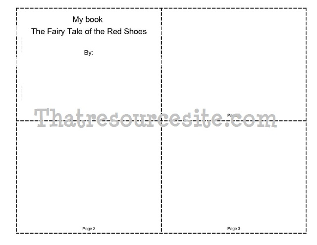 The Fairy Tale of the Red Shoes Mini-Book