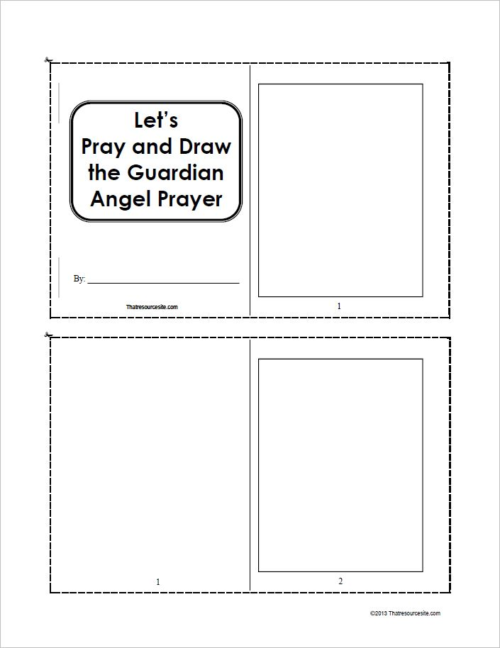 Let's Pray and Draw the Guardian Angel Prayer Booklet