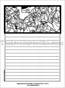 Nativity Notebooking Set in Black-and-White