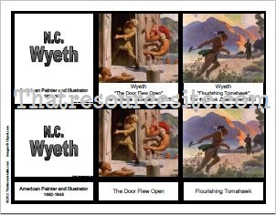 3-Part Montessori Cards for Artist N.C. Wyeth