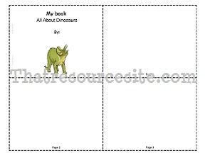 All About Dinosaurs Mini-Book (Blank)