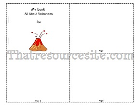 All About Volcanoes Mini-Book (Blank)