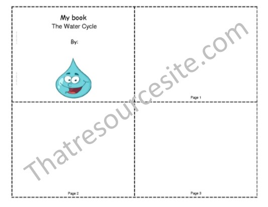 My Book About the Water Cycle Mini-book