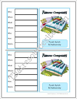 Composer Research Learning Card Set 2