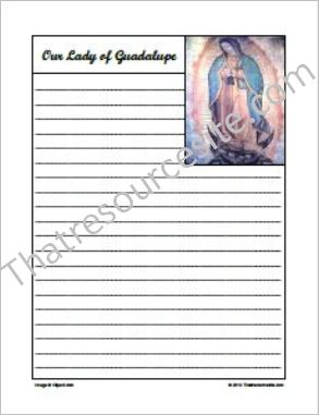 Our Lady of Guadalupe Notebooking Set
