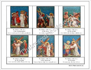 Stations of the Cross Montessori Cards