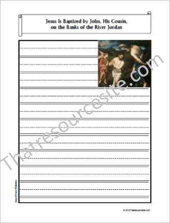 Life of Christ – Jesus Is Baptized by John the Baptist Notebooking Set