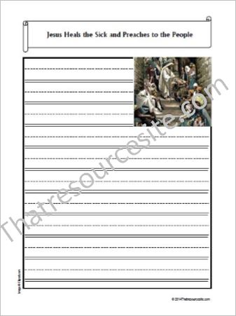 Life of Christ – Jesus Heals the Sick Notebooking Set