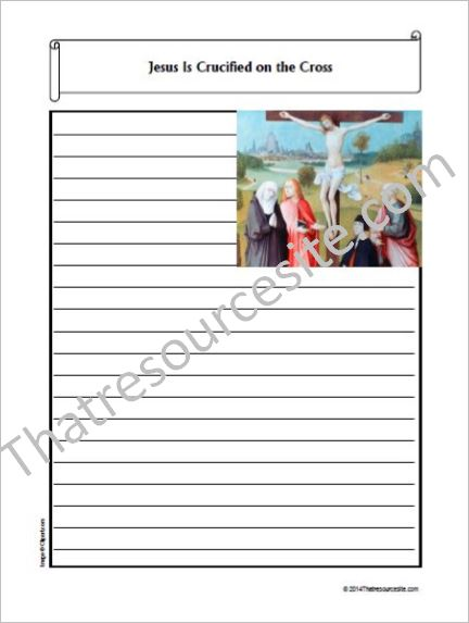 Life of Christ – Jesus Is Crucified on the Cross Notebooking Set