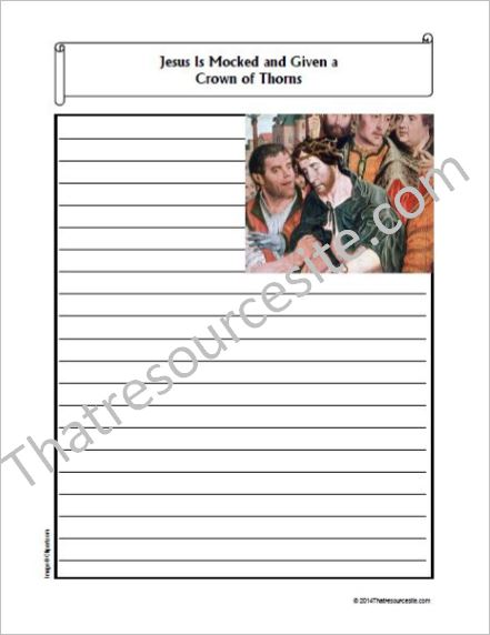 Life of Christ – Jesus Is Mocked and Crowned with Thorns Notebooking Set