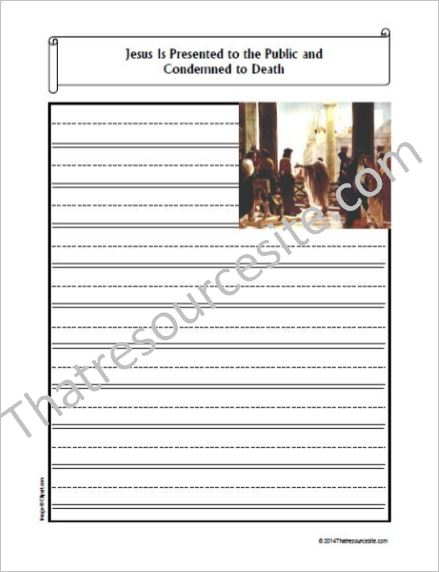 Life of Christ – Jesus Is Presented and Condemned to Death Notebooking Set