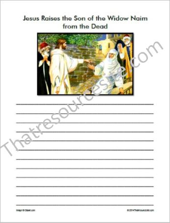 Life of Christ – Jesus Raises the Son of the Widow Naim Notebooking Set