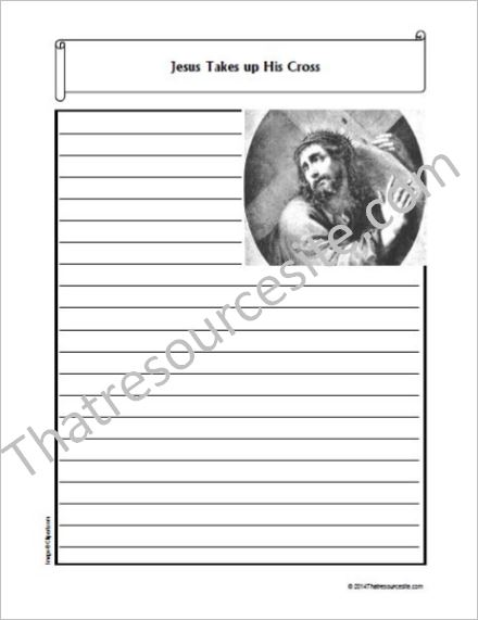 Life of Christ – Jesus Takes up His Cross Notebooking Set
