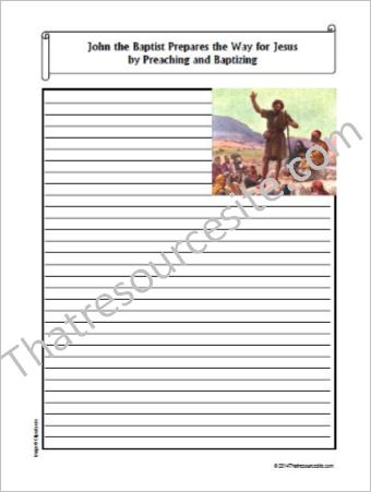 Life of Christ – John the Baptist Prepares the Way for Jesus Notebooking Set
