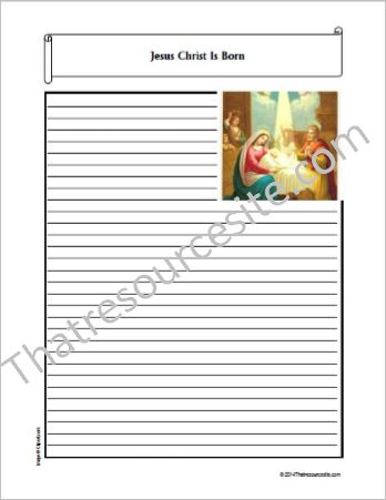 Life of Christ – Jesus Christ Is Born Notebooking Set