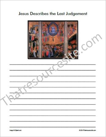 Life of Christ – Jesus Describes the Last Judgement Notebooking Set