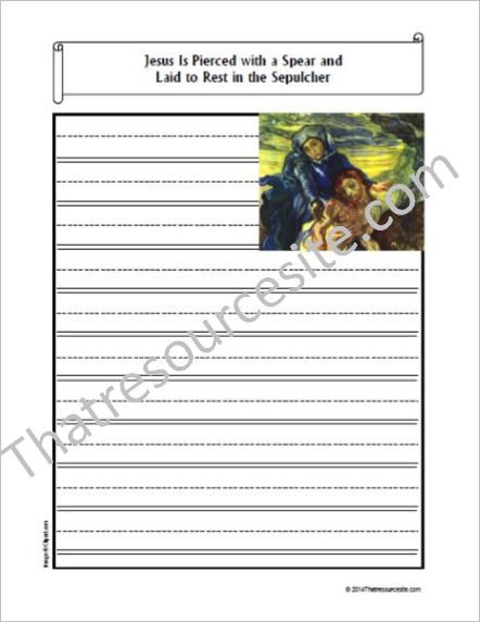 Life of Christ – Jesus Is Laid to Rest in the Sepulcher Notebooking Set