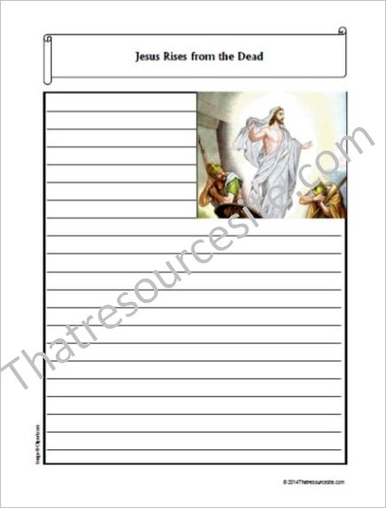 Life of Christ – Jesus Rises from the Dead Notebooking Set
