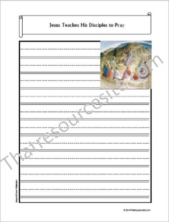 Life of Christ – Jesus Teaches His Disciples to Pray Notebooking Set