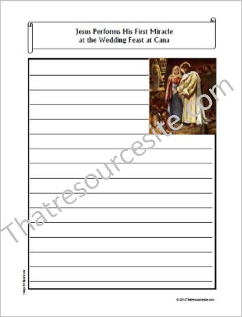 Life of Christ – Miracle at the Wedding at Cana Notebooking Set