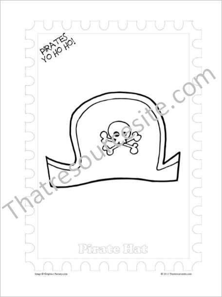 Pirate Hat Coloring Sheet
