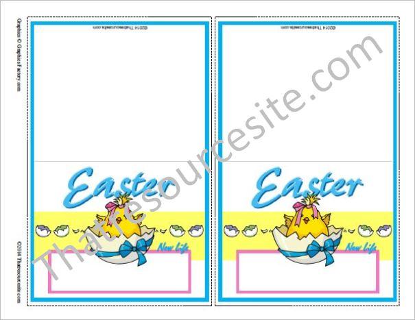 Easter Printable Place Settings