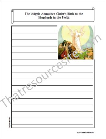 Life of Christ – The Angels Announce the Birth of Christ to the Shepherds Notebooking Set