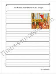 Life of Christ – The Presentation of Christ in the Temple Notebooking Set