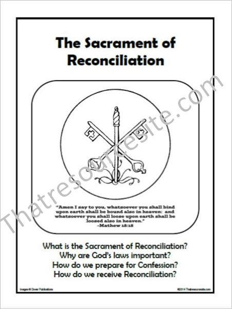 F3 Folder Lesson on the Sacrament of Reconciliation
