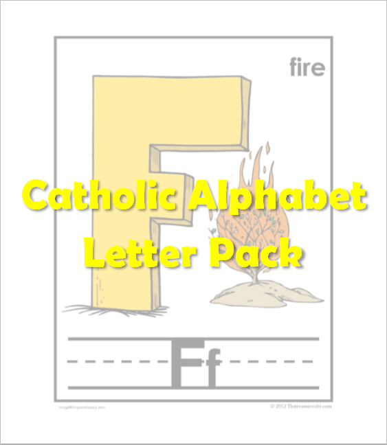 Catholic Alphabet Pack Letter F
