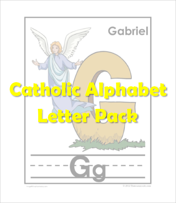 Catholic Alphabet Pack Letter G
