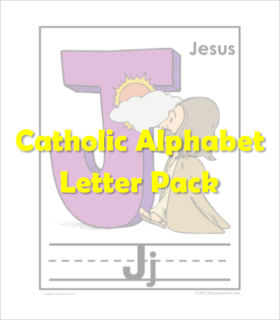 Catholic Alphabet Pack Letter J