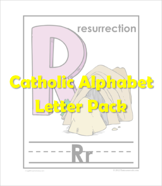 Catholic Alphabet Pack Letter R